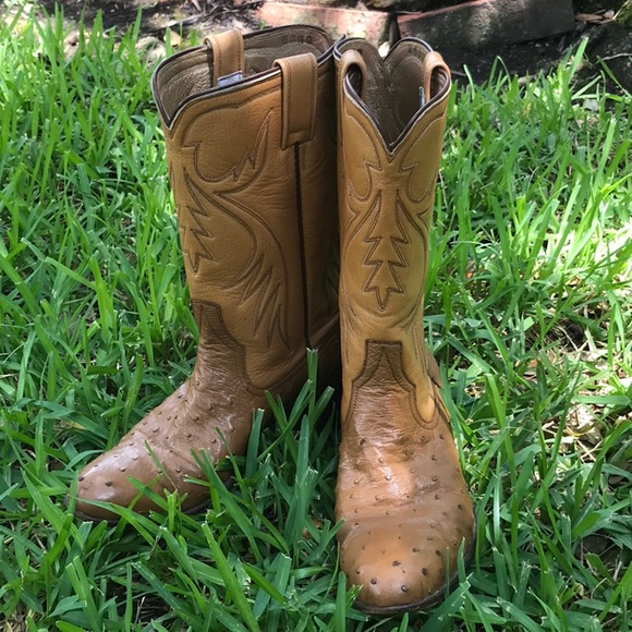 9c5e29b05eb Vintage Ryon Ostrich Ladies boots. One of a kind!